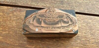 2 Stunning Antique Brass And Wood Printing Blocks. Nice condition.