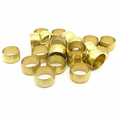 """50pcs Brass Pipe Fittings Compression Sleeves Ferrule Ring For 4mm Tube """""""