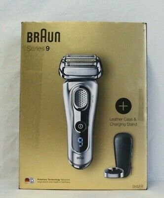 Braun 9260PS Series 9 Wet & Dry Electric Shaver Leather Case & Stand