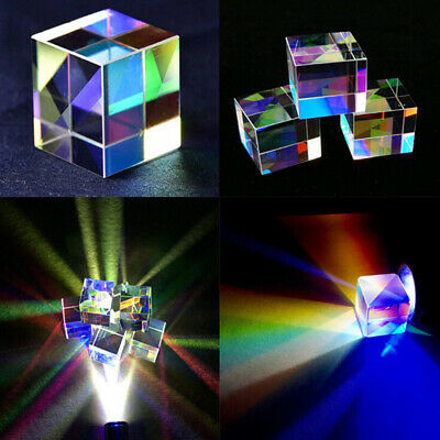 1Pc Optical Glass X-cube Dichroic Cube Prism RGB Combiner Splitter Science T TDO