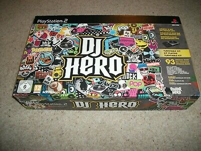PLAYSTATION 2 - DJ HERO BOXSET (PS2) NEW & SEALED  inc Turntable & Game (NEW)