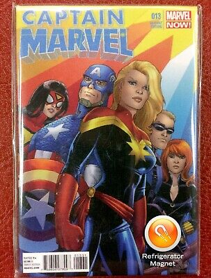 "Captain Marvel #13 (Conner Variant) High Quality 2"" x 3"" Dimensional Magnet"