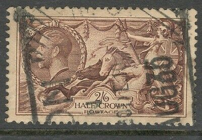 George V - SG 450 - 2s 6d. Chocolate-Brown Seahorse - Used - Good Condition