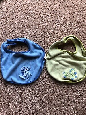 Pottery Barn Baby Bibs Blue And Green