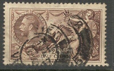 George V - SG 450 - 2s 6d. Chocolate-Brown Seahorse - Used - Good Condition,