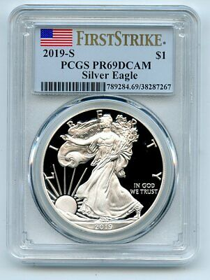 2019 S Proof Silver Eagle PCGS PR69DCAM First Strike