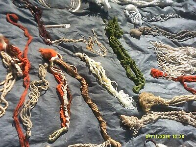 Lot Of Vintage Retro Macrame Hangings For Holding Plants Plus Other