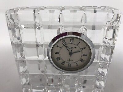 Vintage Waterford Crystal Desk Clock Crystal Square 3.5 Inches