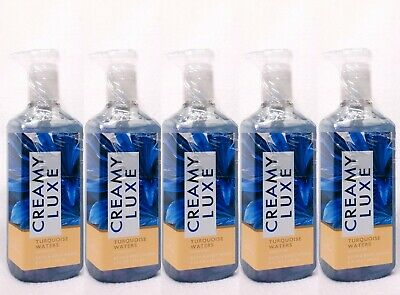 5 Bath & Body Works TURQUOISE WATERS Creamy Luxe Gel Hand Soap
