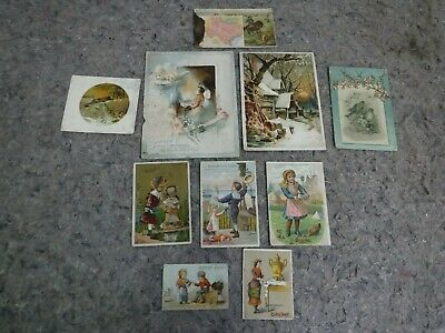Lot of 10 Victorian Trade Cards-Coffee Advertising