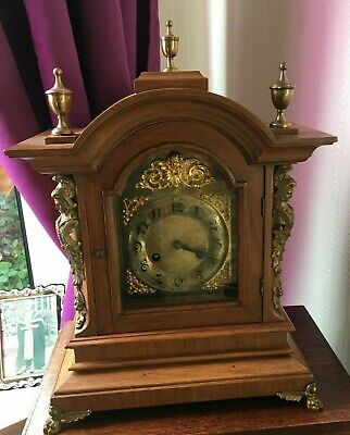Mantle Clock Walnut circa 1850, Chimes- Stikes hour and halfs REDUCED