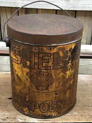 Vintage Shell Compound Grease Tin