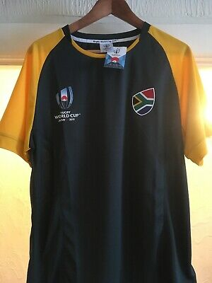 South Africa Rugby World Cup 2019 Polyester Shirt Large Size New With Tags