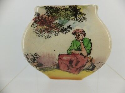 Royal Doulton Series Ware - Old English scenes - The Gleaners miniature vase