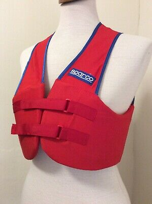 Fantastic Sparco Red Racing Chest/Body Protector New Condition, L@@@@@K!!!