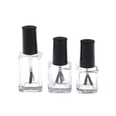 1PC5/10/15ml empty glass nail polish bottle with brush nail oil glass bottle~GS