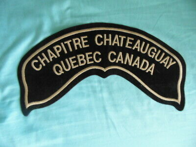 Harley-Davidson Grand Patch Dos Collector Hog Chapitre Chateauguay Quebec Canada