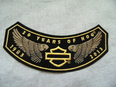Harley Davidson Pins Patch Collector Hd Hog 1983-2013 30 Years Of Hog