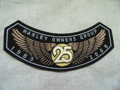HARLEY DAVIDSON PINS PATCH COLLECTOR HD HOG 25th YEARS 1988-2008