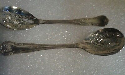 Two 'Kings Pattern' Silver Plated Small Berry Spoons
