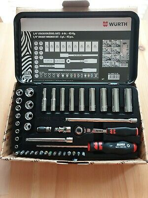 "1/4"" Socket Wrench Assortment 42pcs-Wurth Brand"