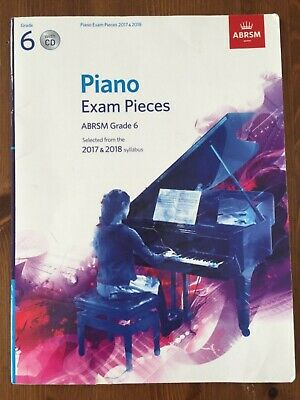 ABRSM Grade 6 Piano Exam Pieces 2017 & 2018 - 9 pieces from syllabus - *WITH CD*
