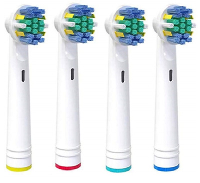 4 x Dual clean ORAL B Compatible Electric Toothbrush Replacement Brush Heads UK