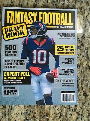 Fantasy Football Draft Book 2019 Magazine