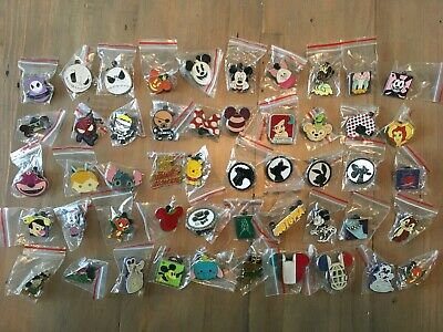 Lot of 50 Disney Trading Pins - No Doubles - What you see is what you get!