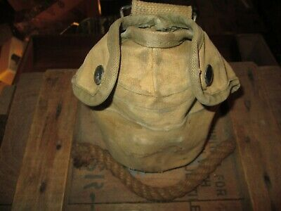 WWII WW2  M-1910 Canteen Cover Pouch  USMC MARINE FIRST PATTERN ORIGINAL