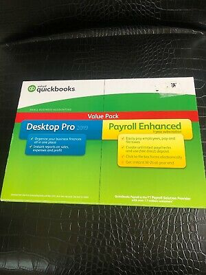 Intuit QuickBooks Desktop Pro 2019 with Enhanced Payroll Brand New And Sealed