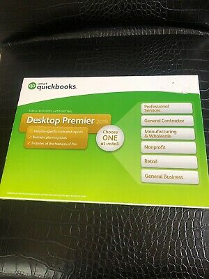 Brand New Retail Box QuickBooks Desktop Premier 2019 - 1 User (PC Download + CD)