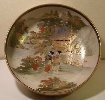 "Superbly Decorated Japanese Satsuma 7"" Open Bowl Meiji Period Signed"