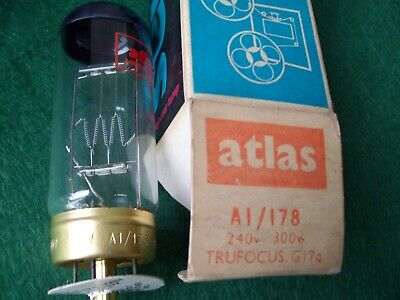 Atlas A1/178  240V 300W Projection Lamp/Bulb. New (Old Stock)