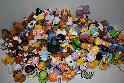 Fisher Price Little People Lot of 12 Boy/Girl/Animal Figures - Randomly Selected