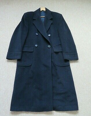 YVES Saint Laurent Unisex Vintage Wool Cashmere Navy Coat