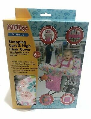 NUBY on the go shopping cart and high chair cover 6m+