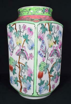 Antique Chinese Porcelain Vase c1900s 30cm Tall Marked