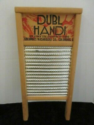 Vintage DUBL HANDI Small Lingerie Washboard Dovetail Corners Excellent