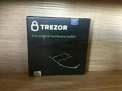 TREZOR cryptocurrency hardware wallet (BRAND NEW - BOX NEVER OPENED)