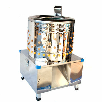 Commercial Stainless Steel Poultry Plucker 600mm Tub 5-8 Chicken