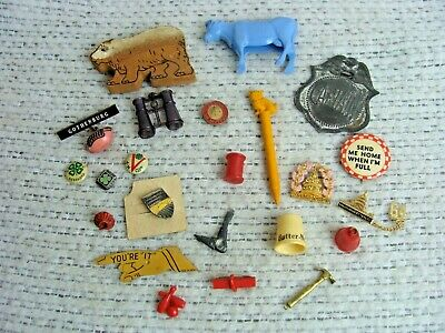 Antique Vintage Junk Drawer Lot Advertising Misc Fun Stuff 4H Football Toys