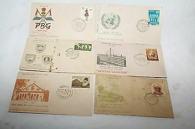 Vintage India 1970's of 200 Years Presidents Body Guards etc 6 First Day Covers