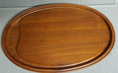 Henning Koppel Georg Jensen Denmark Signed Lg Staved Teak Tray- Cutting Board