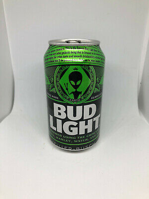 One Empty Bud Light Earth Can Alien Storm Area 51 EMPTY - Limited Edition!