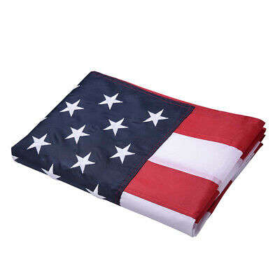 3x5 ft American Flag Embroidered US Stars Sewn Stripes Brass Grommets Wholesales