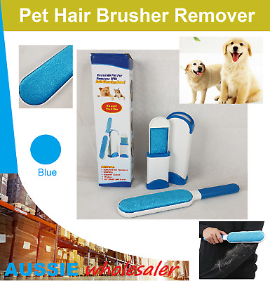 Au Furs Brusher Pet Hair Wizard Lint Remover Brush Self-cleaning Base Travel