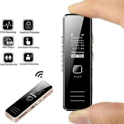 32GB Rechargeable Digital Audio/Sound/Voice Recorder Dictaphone MP3 Player Black