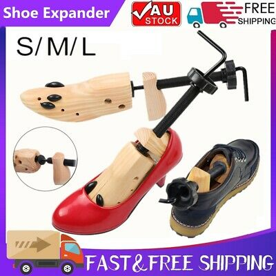 Wooden Shoes Stretcher Expander Shoe Timber Unisex Bunion Plugs 2-Way Protection