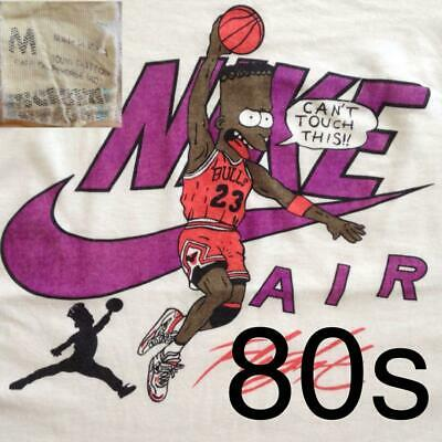 Vintage 80s Simpsons Michael Jordan T-shirt Size M NIKE AIR Screen Stars USA F/S